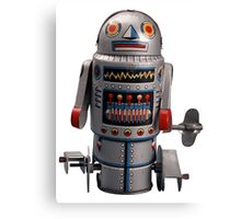 Retro Robot Vintage Canvas Print