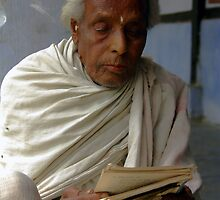 100-year-old preist, Majuli Island, Assam, India by John Mitchell