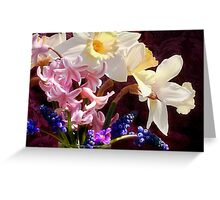 April... by the glassful Greeting Card
