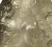 A Flintknapped Glass Arrowhead Sticker