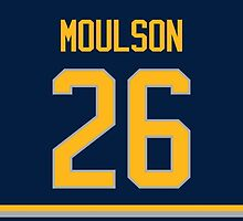 Buffalo Sabres Matt Moulson Jersey Back Phone Case by Russ Jericho