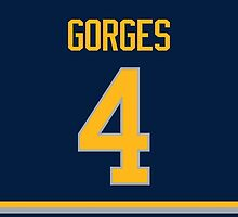 Buffalo Sabres Josh Gorges Jersey Back Phone Case by Russ Jericho