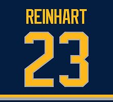 Buffalo Sabres Sam Reinhart Jersey Back Phone Case by Russ Jericho