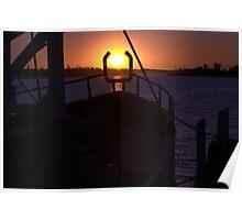 Cradled Sunset Poster