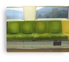 Train Chairs Canvas Print
