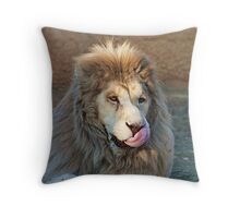 Licking my lips Throw Pillow