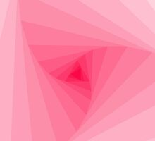 Trendy Pink Color Gradient Spiral Geometric by Blkstrawberry