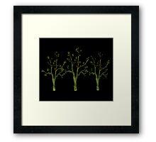 My Three Digital Trees Framed Print