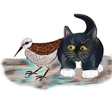 Sandpiper and Kitten by NineLivesStudio