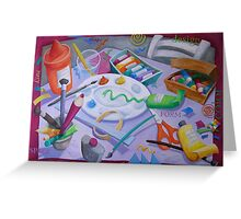 Art Table 1 Greeting Card
