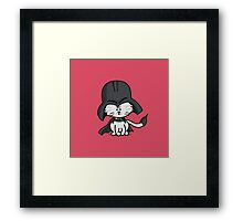 Darth Kitty Framed Print