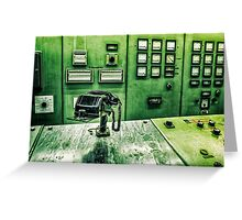 phone in control room Greeting Card