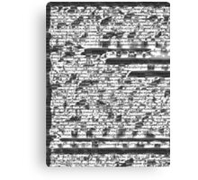 Fragmented Coding Canvas Print