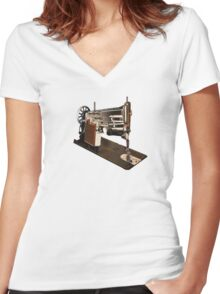 Sewing Its a Crime Women's Fitted V-Neck T-Shirt