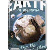 Earth Space Retro Poster iPad Case/Skin