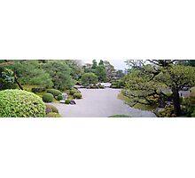 Raked Garden - Kyoto, Japan Photographic Print