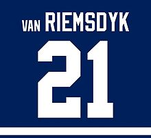 Toronto Maple Leafs James van Riemsdyk Jersey Back Phone Case by Russ Jericho