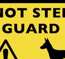 Humorous Manchester Terrier Guard Dog Warning Sticker