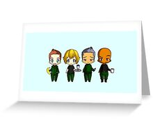 Chibi Stargate - Season 6 Team Greeting Card
