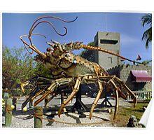 Lobster escapes restaurant Poster