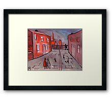 A Manchester Street Scene  Framed Print