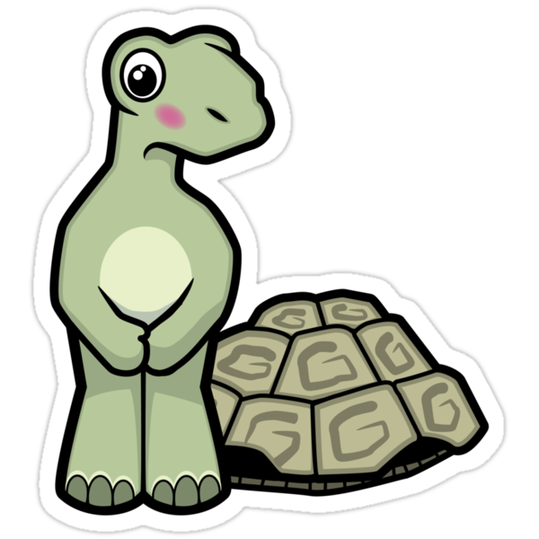 Tort-ally Naked Tortoise by Lisa Marie Robinson