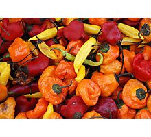 Market - Party Peppers Photographic Print