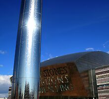 Sculpture at Cardiff's Millennium Centre by Anthony Thomas