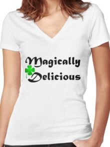 Magically Delicious Women's Fitted V-Neck T-Shirt