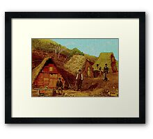 Shanty Town 1892 Framed Print