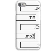 FORMAT CODING iPhone Case/Skin
