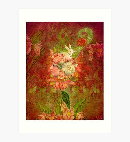Le Jardin Des Lapins Art Print