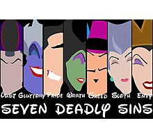 The Seven Disney Sins Photographic Print