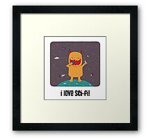 i love sci-fi Framed Print