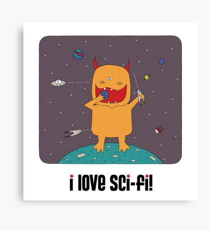 i love sci-fi Canvas Print
