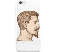 Male Goatee Side View Etching iPhone Case/Skin