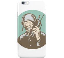 World War Two Soldier American Talk Radio Circle iPhone Case/Skin