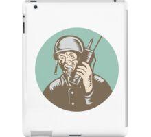 World War Two Soldier American Talk Radio Circle iPad Case/Skin