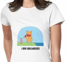 i love lighthouses! Womens Fitted T-Shirt
