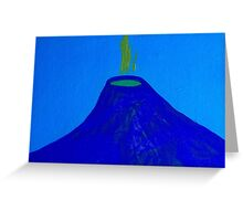 Blue Volcano by Holly Cannell - Artwork Greeting Card