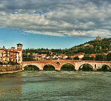 Ponte di Pietra, Verona Italy by Amanda White