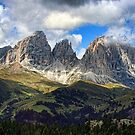 Sassolungo Group, Dolomites, Italy by Amanda White