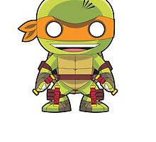 TMNT - Michelangelo Funko Pop by averagejoeart