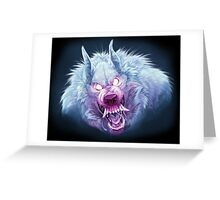 Red and Blue Wuff Greeting Card