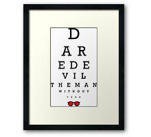 Daredevil Ophthalmologist Framed Print
