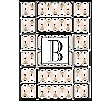 1920s Pink Champagne Gatsby Monogram letter B Photographic Print