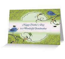 Happy Mother's Day To A Wonderful Grandmother Greeting Card