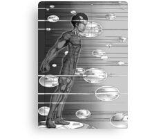 Graphic Novel Image - Robbie Digital on Digital Data Comet Metal Print