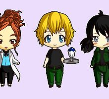 Chibi Stargate - Girl Power Lineup by colsamcarter