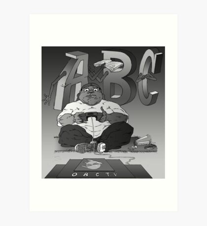 Graphic Novel Image - OBC T.V. Art Print